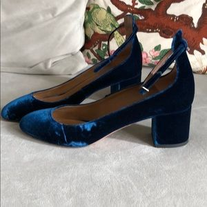 a479769c8323 Aquazzura Shoes - Aquazzura Alix Pump 50 in Blue Velvet Size 37.5